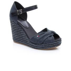 Tommy Hilfiger Iconic Elena Metallic Kadın Lacivert Sandalet