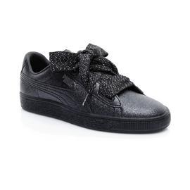Puma Basket Heart Teddy Kadın Siyah Spor Ayakkabı