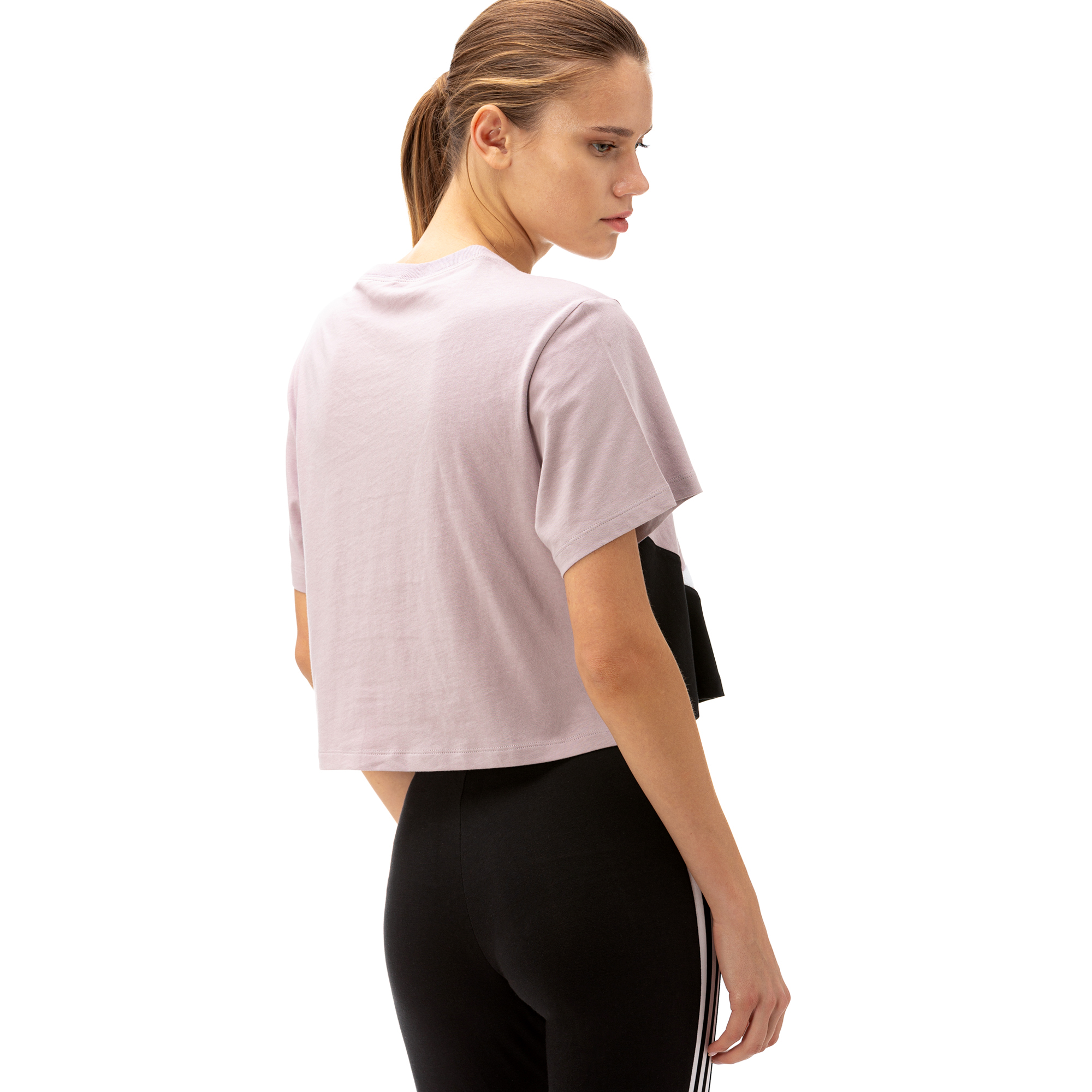 adidas Cropped Kadın Mor T-Shirt