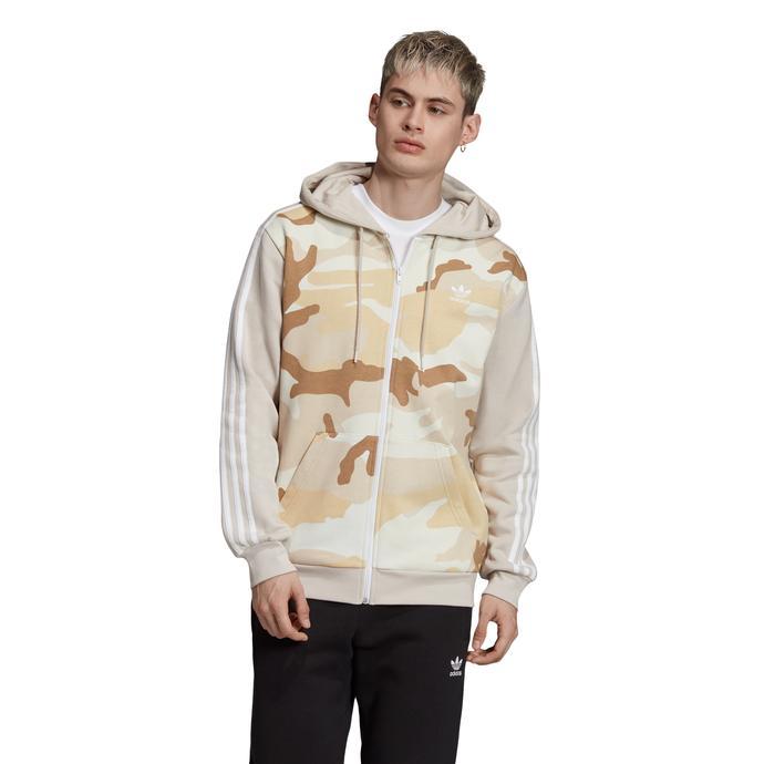 adidas Camo Hoodie Erkek Kahverengi Sweatshirt