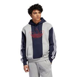 adidas Off Court Trefo Erkek Gri-Lacivert Sweatshirt
