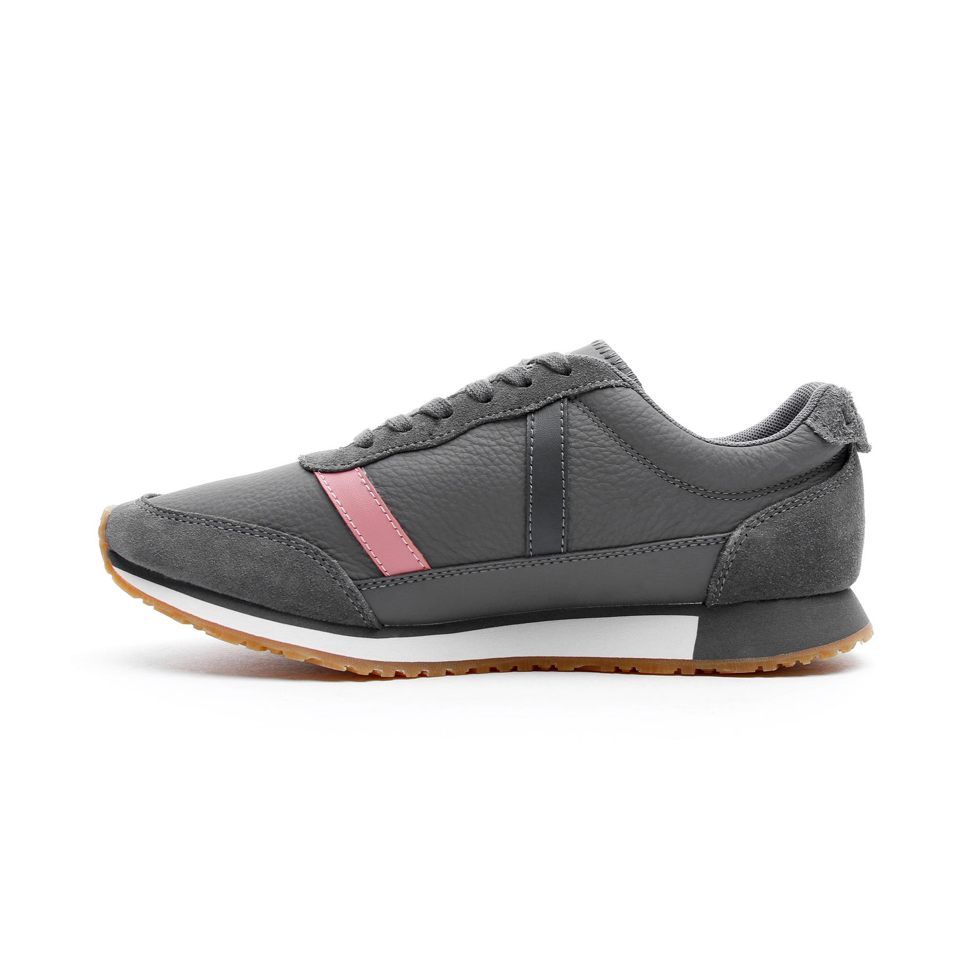 Lacoste Partner Kadın Koyu Gri - Pembe Spor Ayakkabı