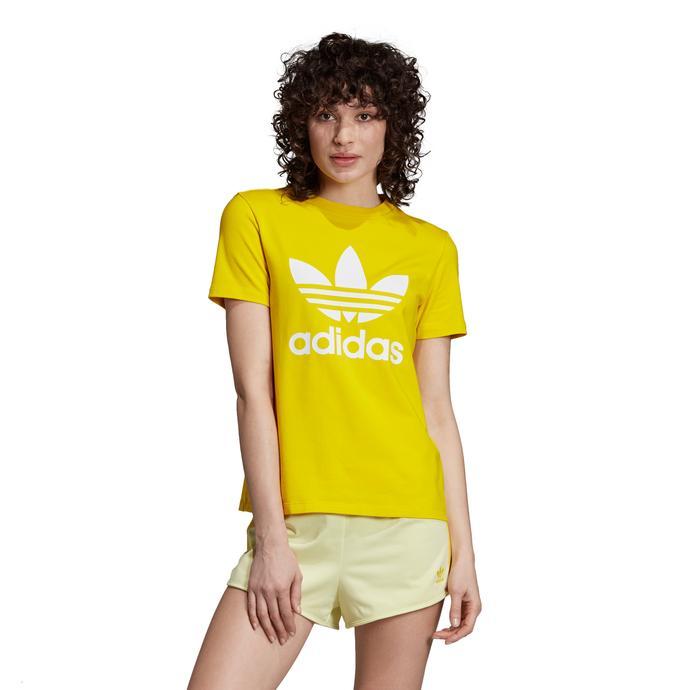 adidas Trefoil Sarı Kadın T-Shirt