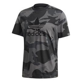 adidas Camo Trefoil Gri Erkek T-Shirt