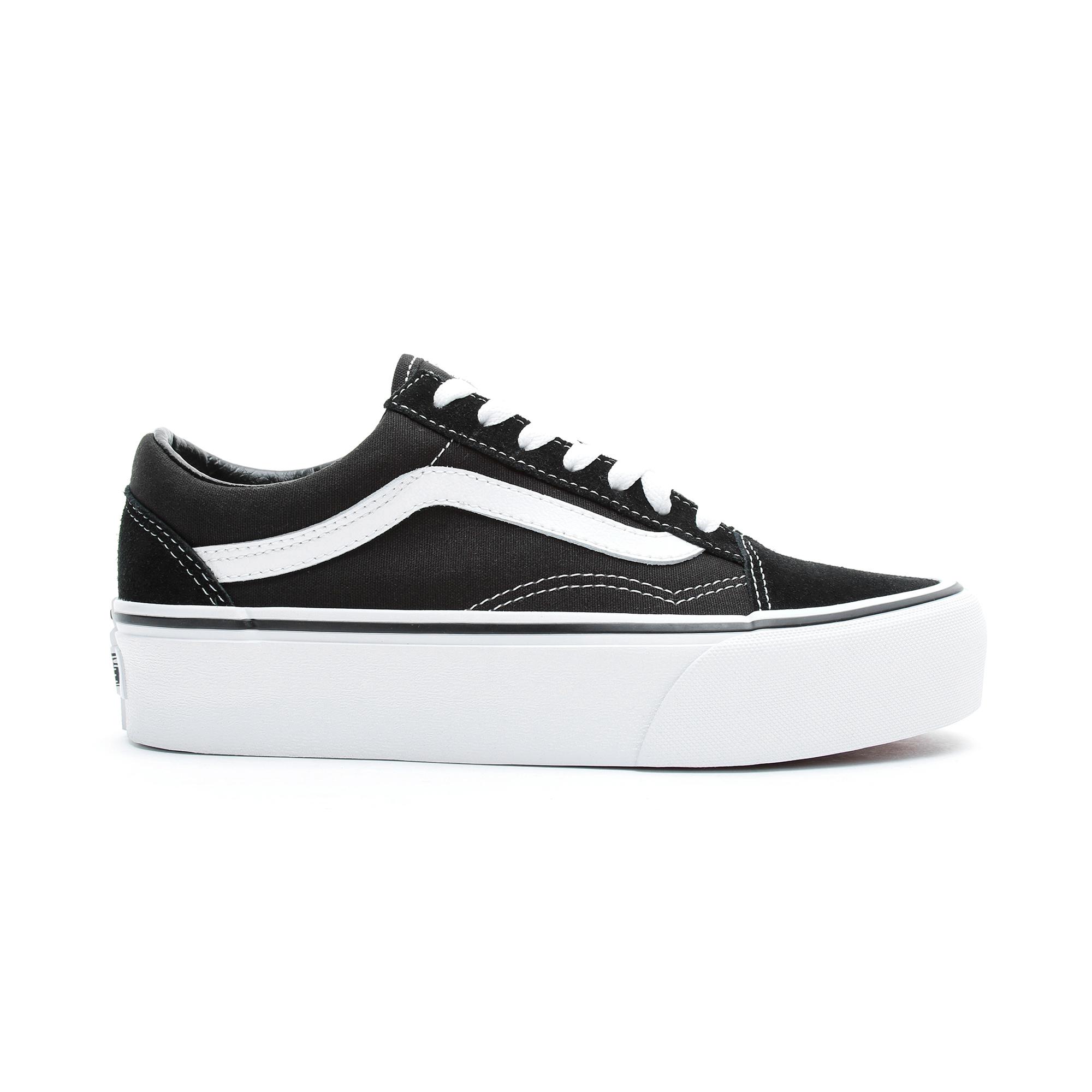 vans platform white sneakers