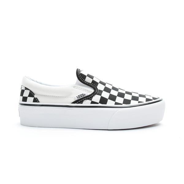 Vans Classic Slip-On Platform Kadın Siyah - Bej Sneaker