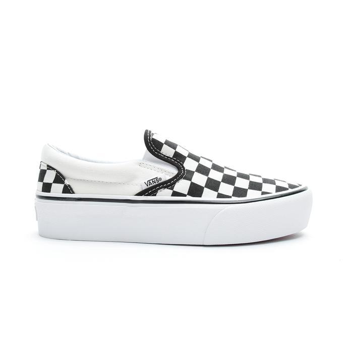 Vans Classic Slip-On Platform Kadın Siyah - Beyaz Sneaker