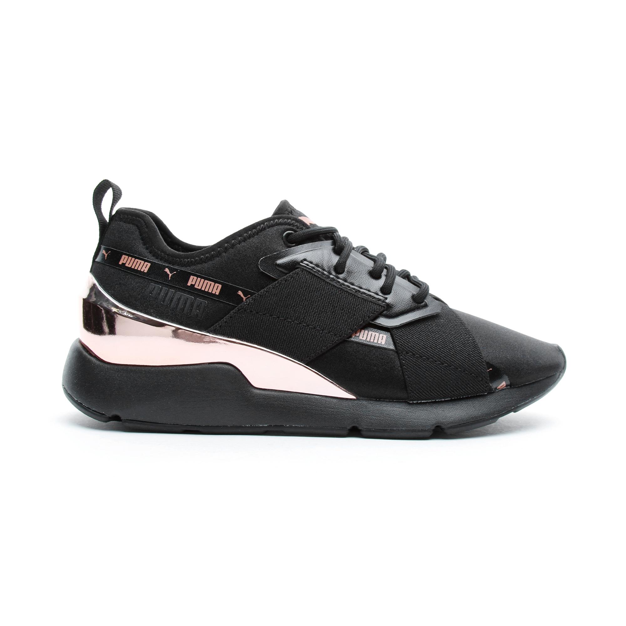 Puma Muse X-2 Metallic Kadın Siyah Spor Ayakkabı