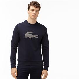 Lacoste Erkek Nakışlı Bisiklet Yaka Lacivert Sweatshirt
