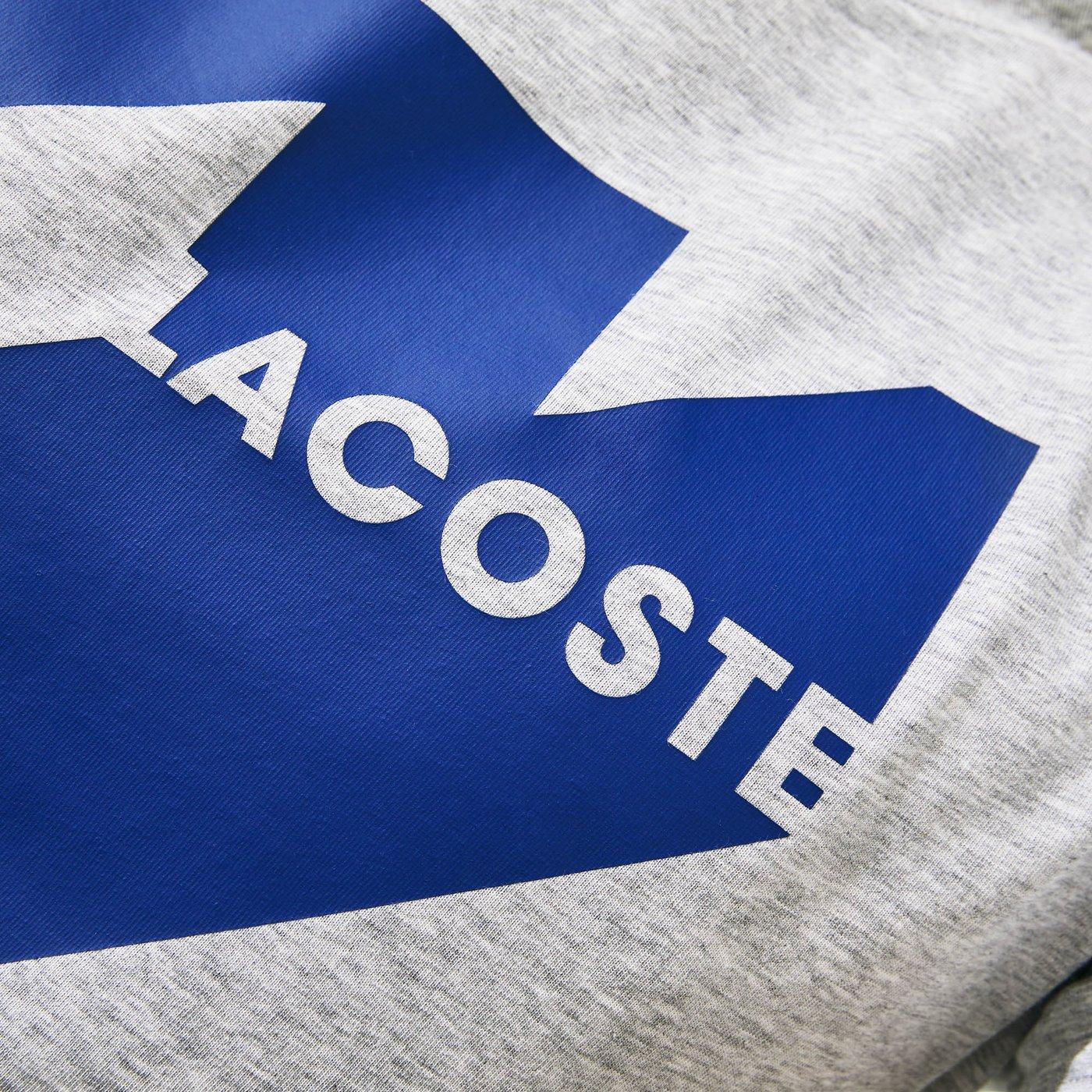 Lacoste Erkek Gri Baskılı Desenli T-Shirt