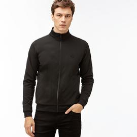 Lacoste Erkek Blok Desenli Siyah Sweatshirt