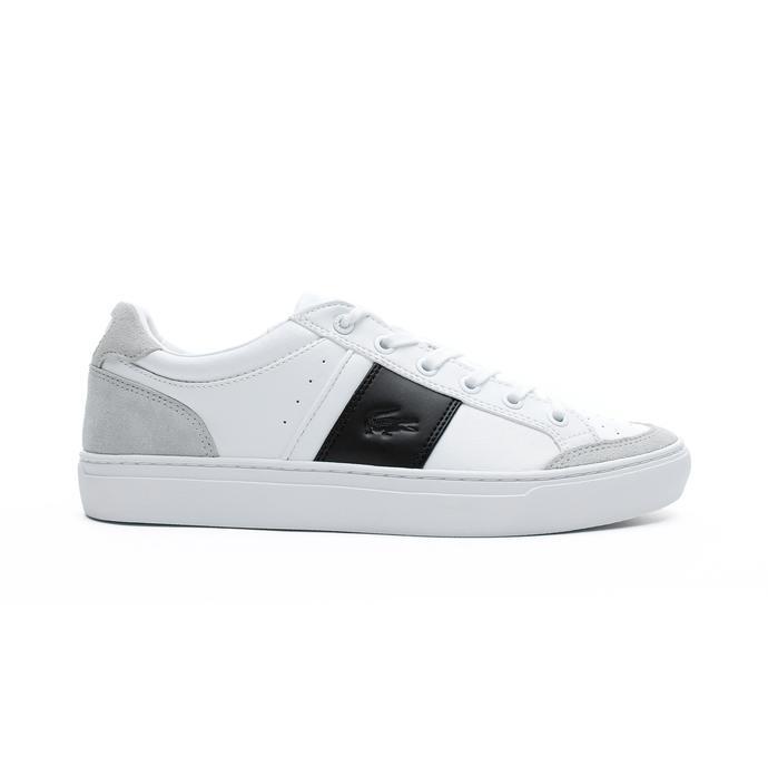 Lacoste Courtline Erkek Beyaz - Siyah Günlük Ayakkabı