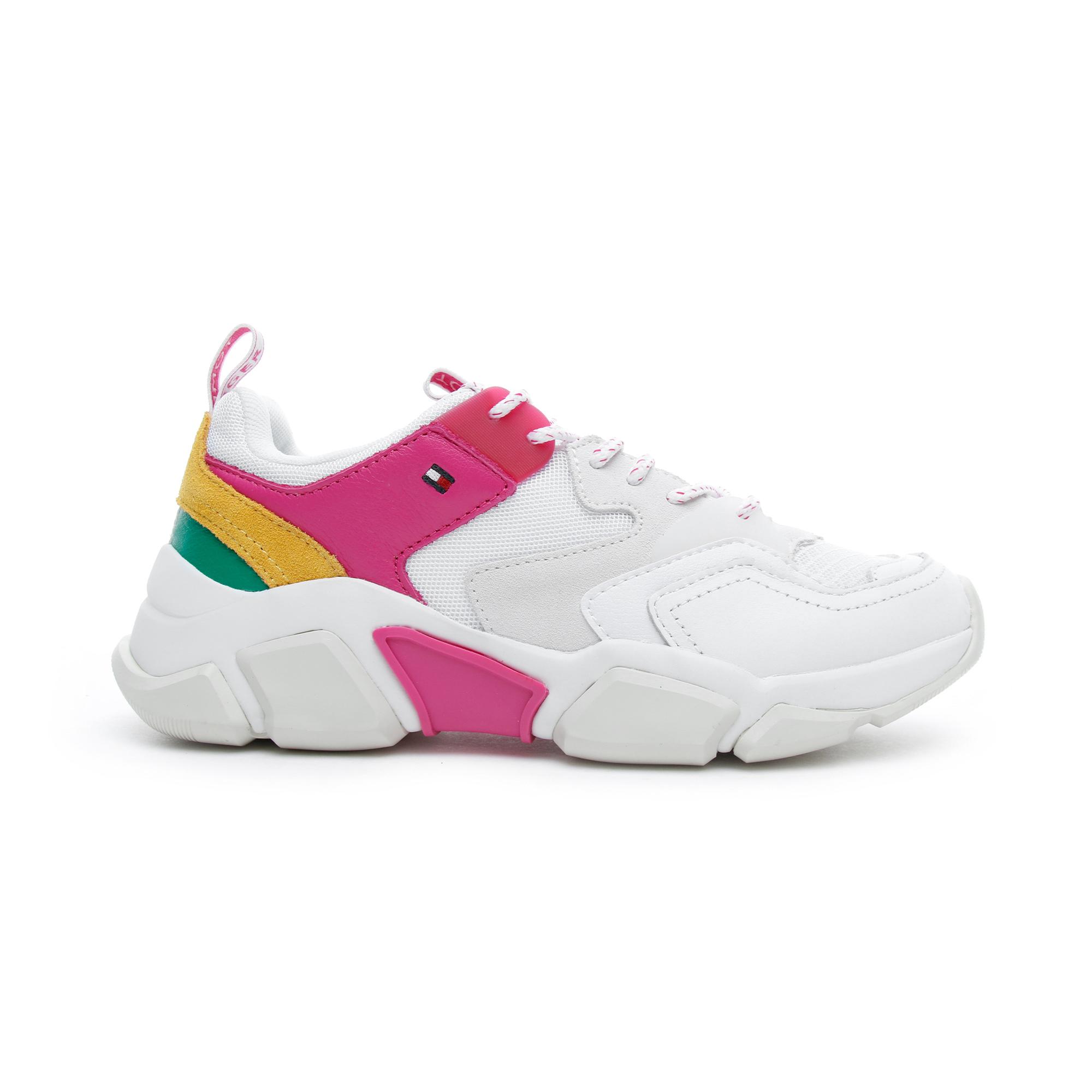 Tommy Hilfiger Pop Color Chunky Kadın Beyaz Spor Ayakkabı