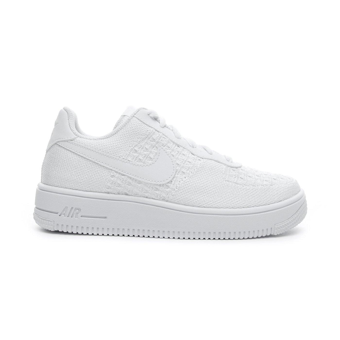 Nike Air Force 1 Flyknit 2.0 (GS) Kadın Beyaz Spor Ayakkabı