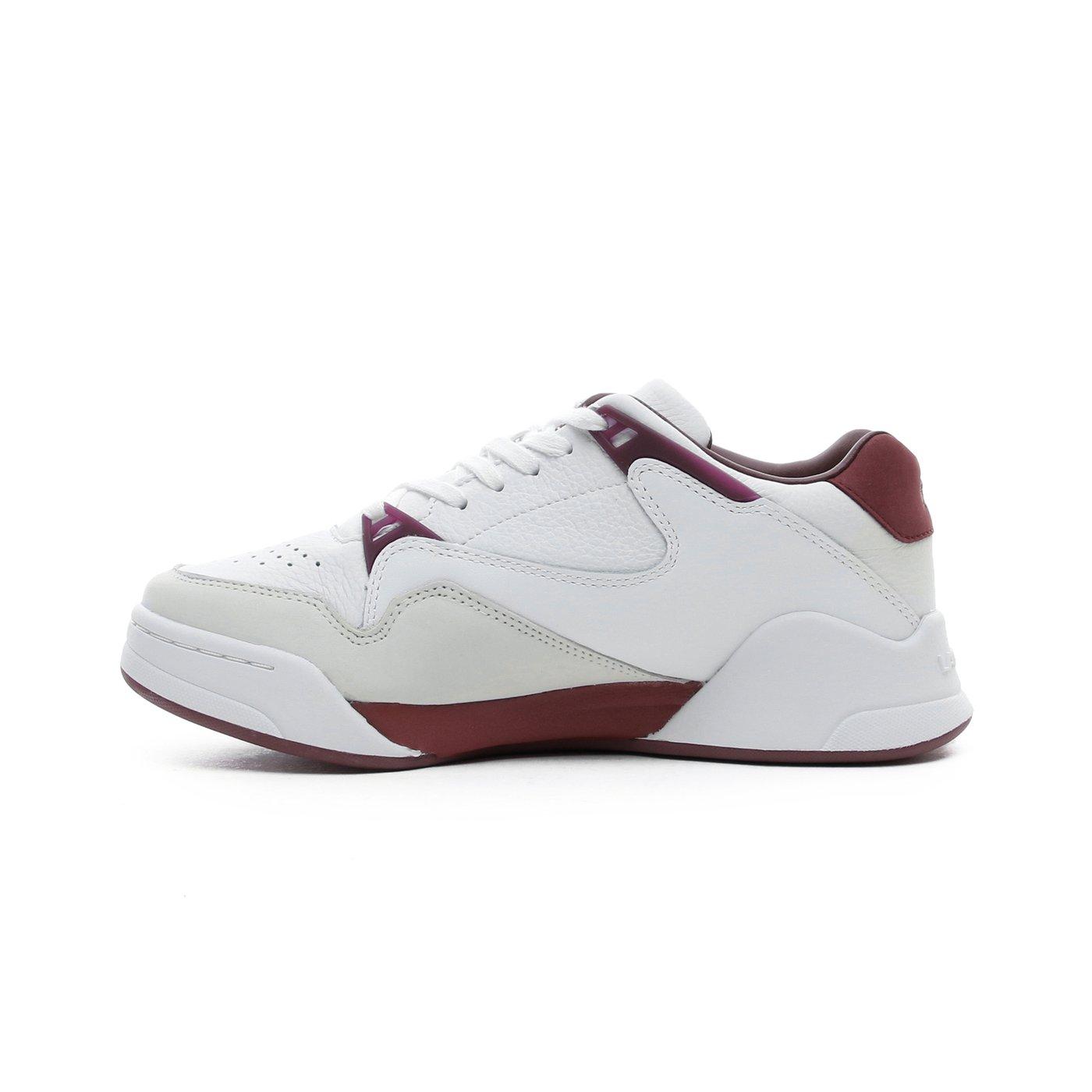 Lacoste Court Slam Kadın Beyaz - Koyu Kırmızı Spor Ayakkabı