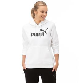 Puma ESS Logo Hoody Fl Kadın Beyaz Sweatshirt