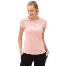 Puma ESS Logo Kadın Pembe T-Shirt