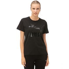 Puma Classics Logo Kadın Siyah T-Shirt