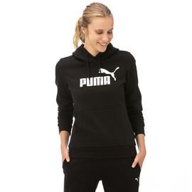 Puma ESS Logo Hoody Fl Kadın Siyah Sweatshirt