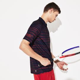 Lacoste Novak Djokovic Erkek Baskılı Lacivert Polo