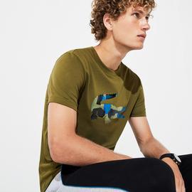 Lacoste Erkek Renkli Baskılı Desenli T-Shirt