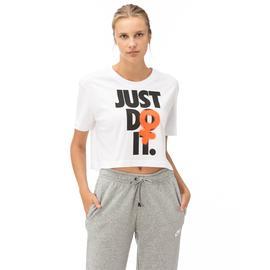 Nike Rebel Crop 2 Kadın Beyaz Kısa Kollu T-Shirt