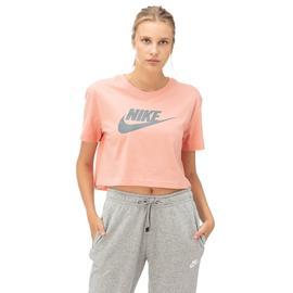 Nike Essntl Crp Icn Ftr Kadın Pembe Kısa Kollu T-Shirt