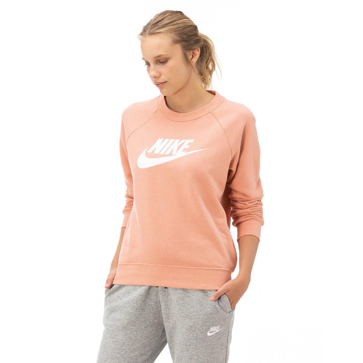 Nike Essntl Creflc Hbr Kadın Pembe Uzun Kollu T-Shirt