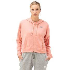 Nike Hoodie Fz Jrsy New Kadın Pembe Fermuarlı Sweatshirt