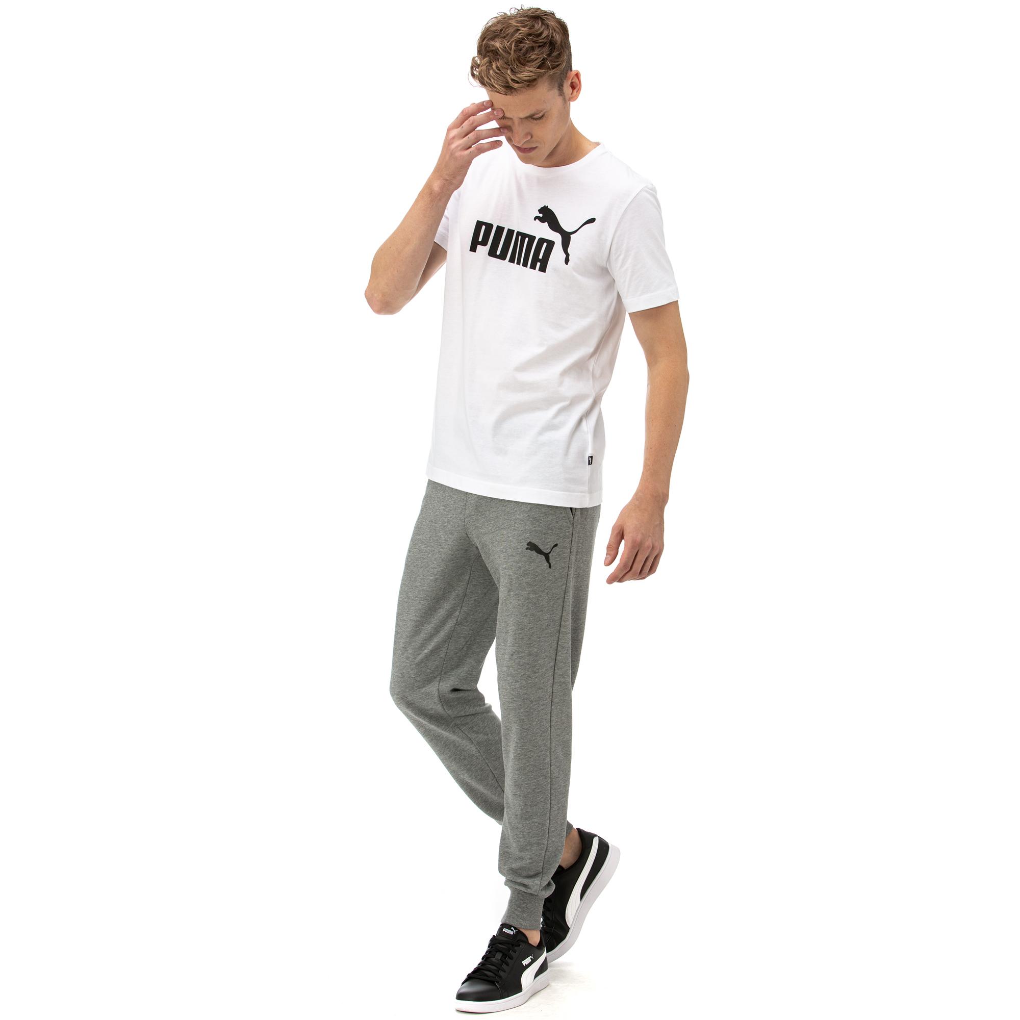 Puma ESS Logo Erkek Gri Eşofman Altı