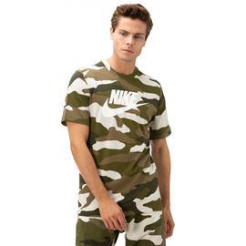 Nike Ss Camo 1 Erkek Yeşil Kısa Kollu T-Shirt
