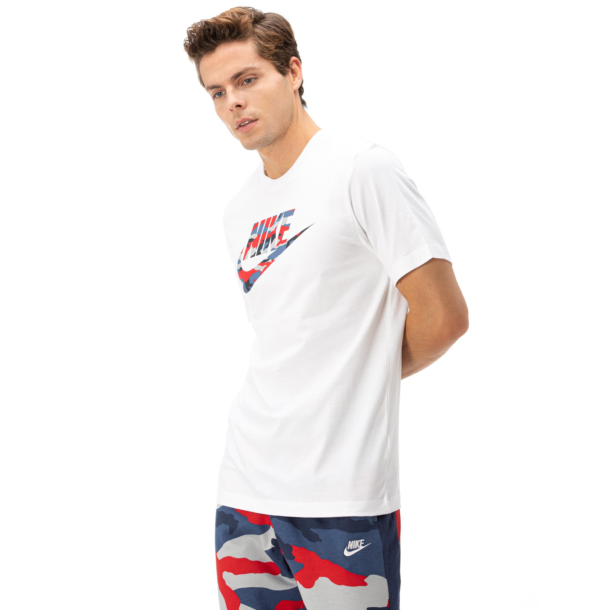 Nike Camo 2 Erkek Beyaz Kısa Kollu T-Shirt