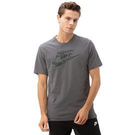 Nike Camo 2 Erkek Gri Kısa Kollu T-Shirt