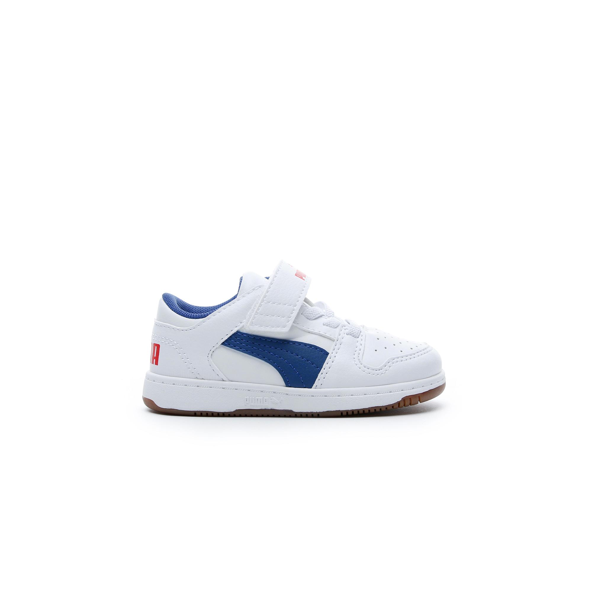 Puma Rebound Layup Lo Bebek Beyaz Spor Ayakkabı