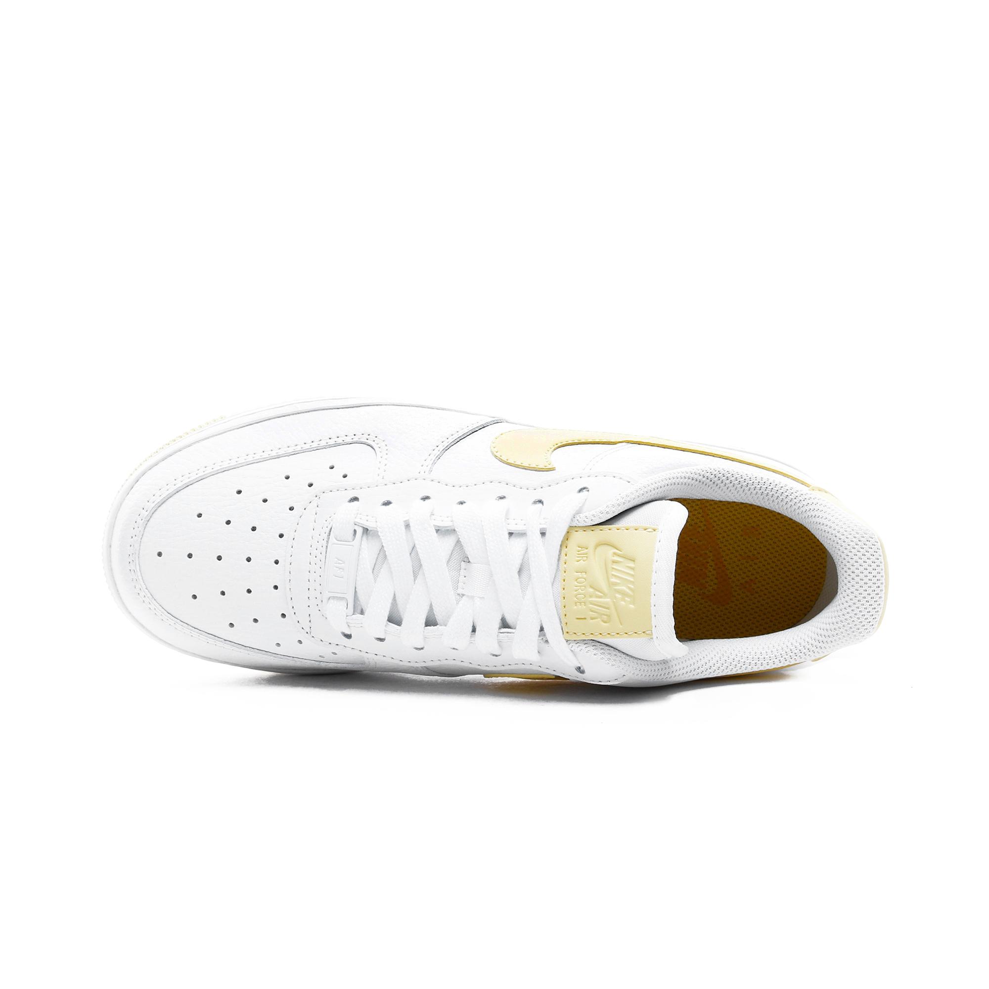 Nike Air Force 1 '07 Beyaz - Sarı Kadın Spor Ayakkabı