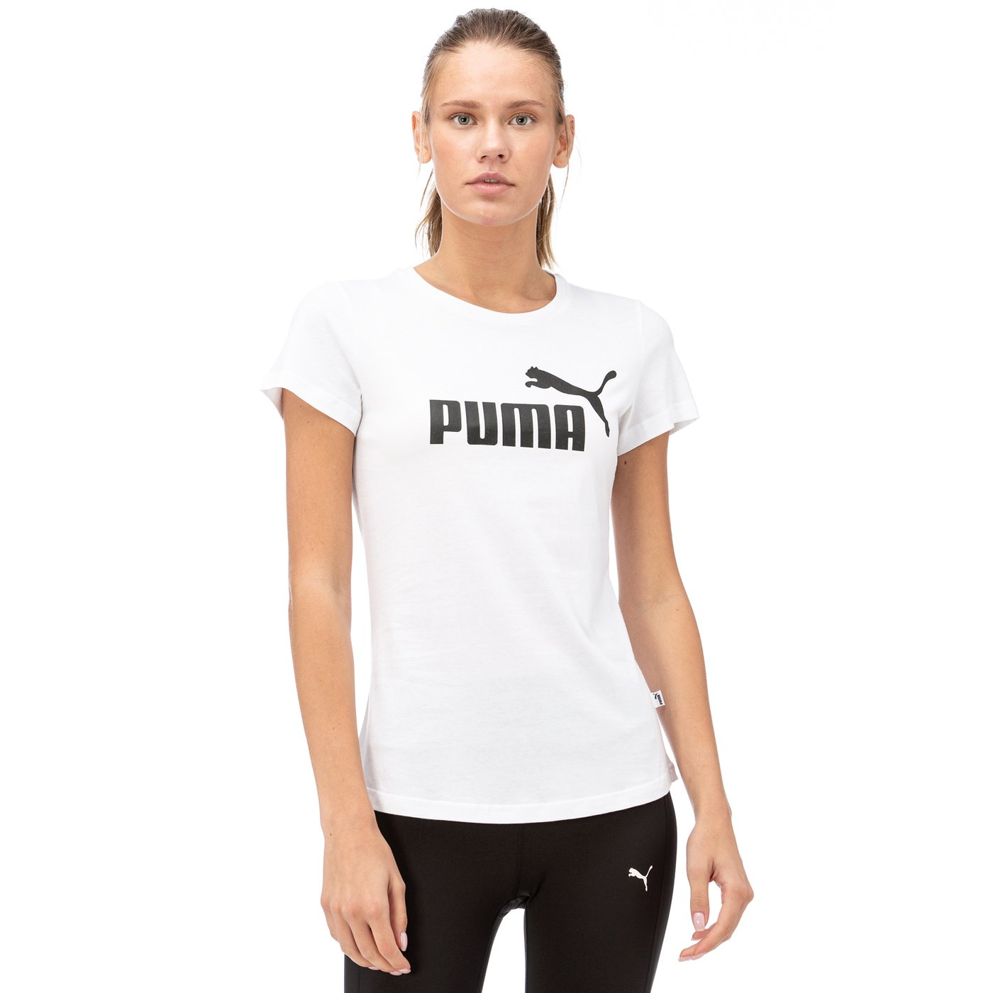 Puma ESS Logo Kadın Beyaz T-Shirt