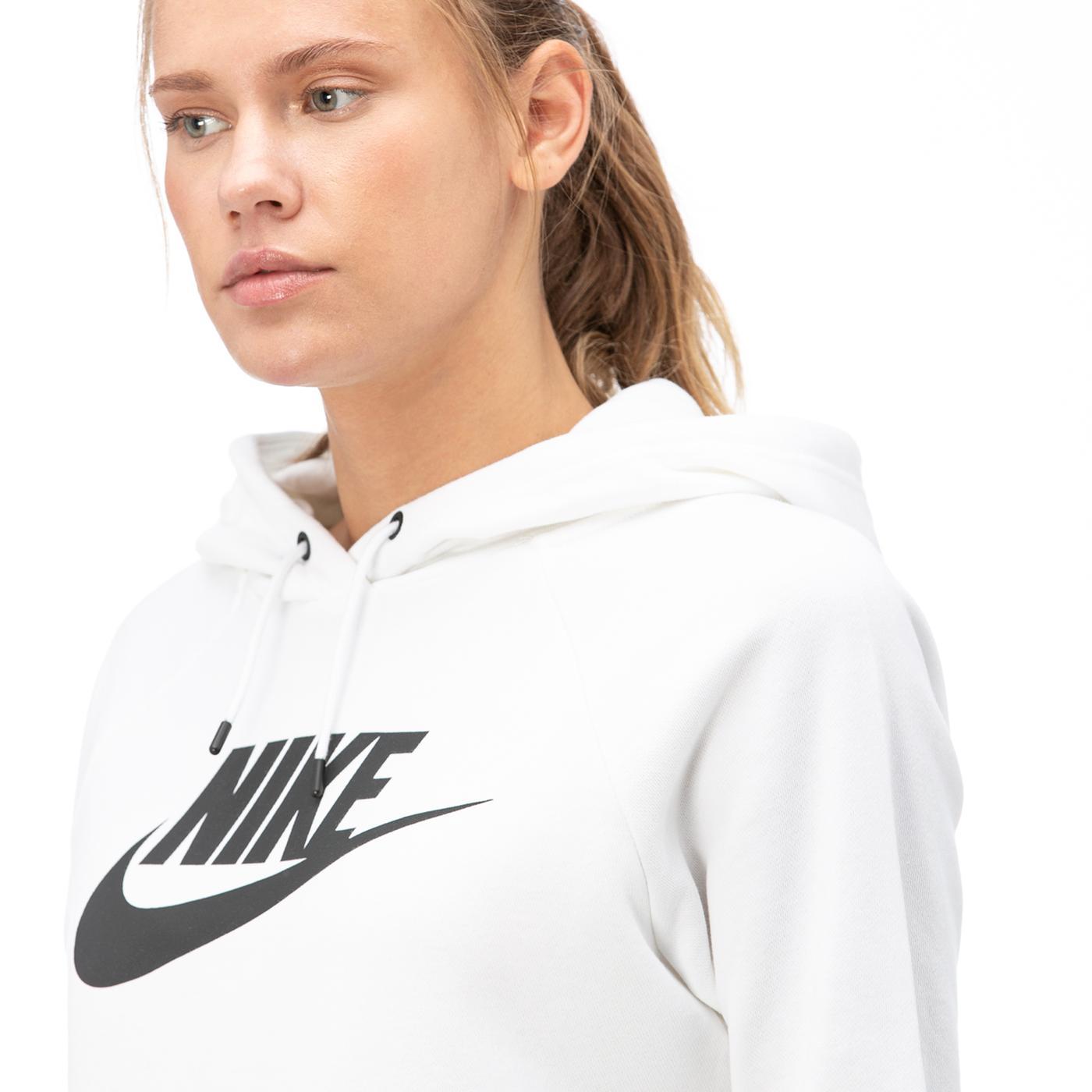 Nike Essntl Hoodie Po  Hbr Kadın Beyaz Sweatshirt