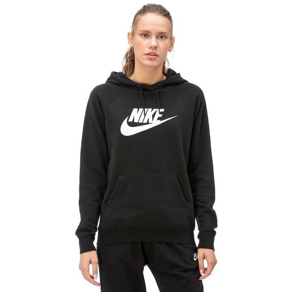 Nike Essntl Hoodie Po  Hbr Kadın Siyah Sweatshirt