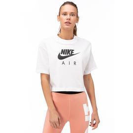 Nike Air Top Ss Kadın Beyaz Kısa Kollu T-Shirt