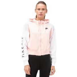 Nike Air Hoodie Fz Bb Kadın Pembe Fermuarlı Sweatshirt