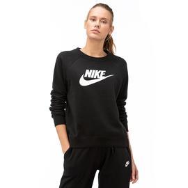 Nike Essntl Creflc Hbr Kadın Siyah Uzun Kollu T-Shirt