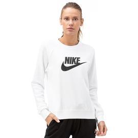 Nike Essntl Creflc Hbr Kadın Beyaz Uzun Kollu T-Shirt