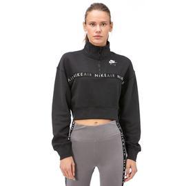 Nike Air Top Hz Bb Kadın Siyah Uzun Kollu Sweatshirt