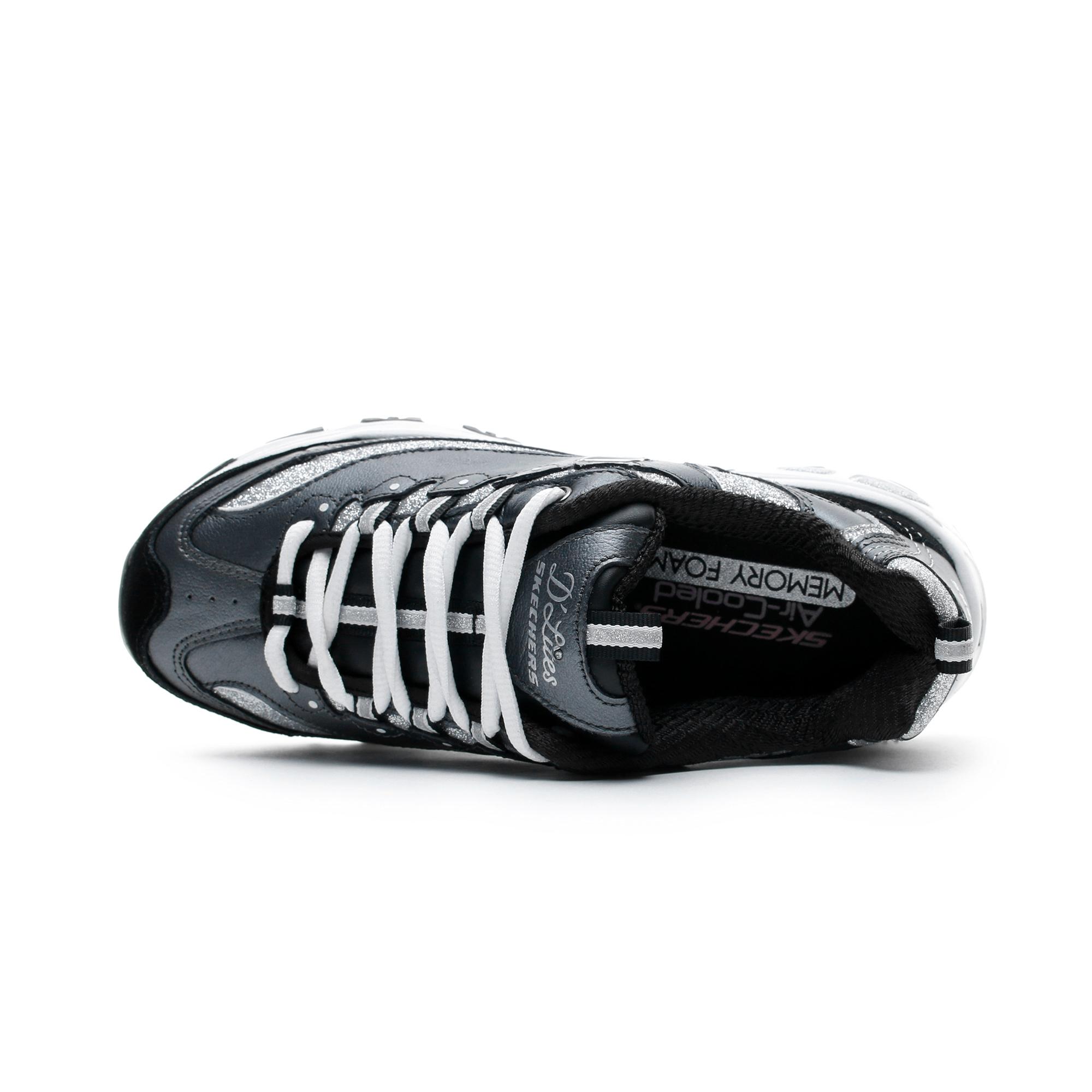 Skechers D'Lites-Glimmer Eve Gri Kadın Spor Ayakkabı