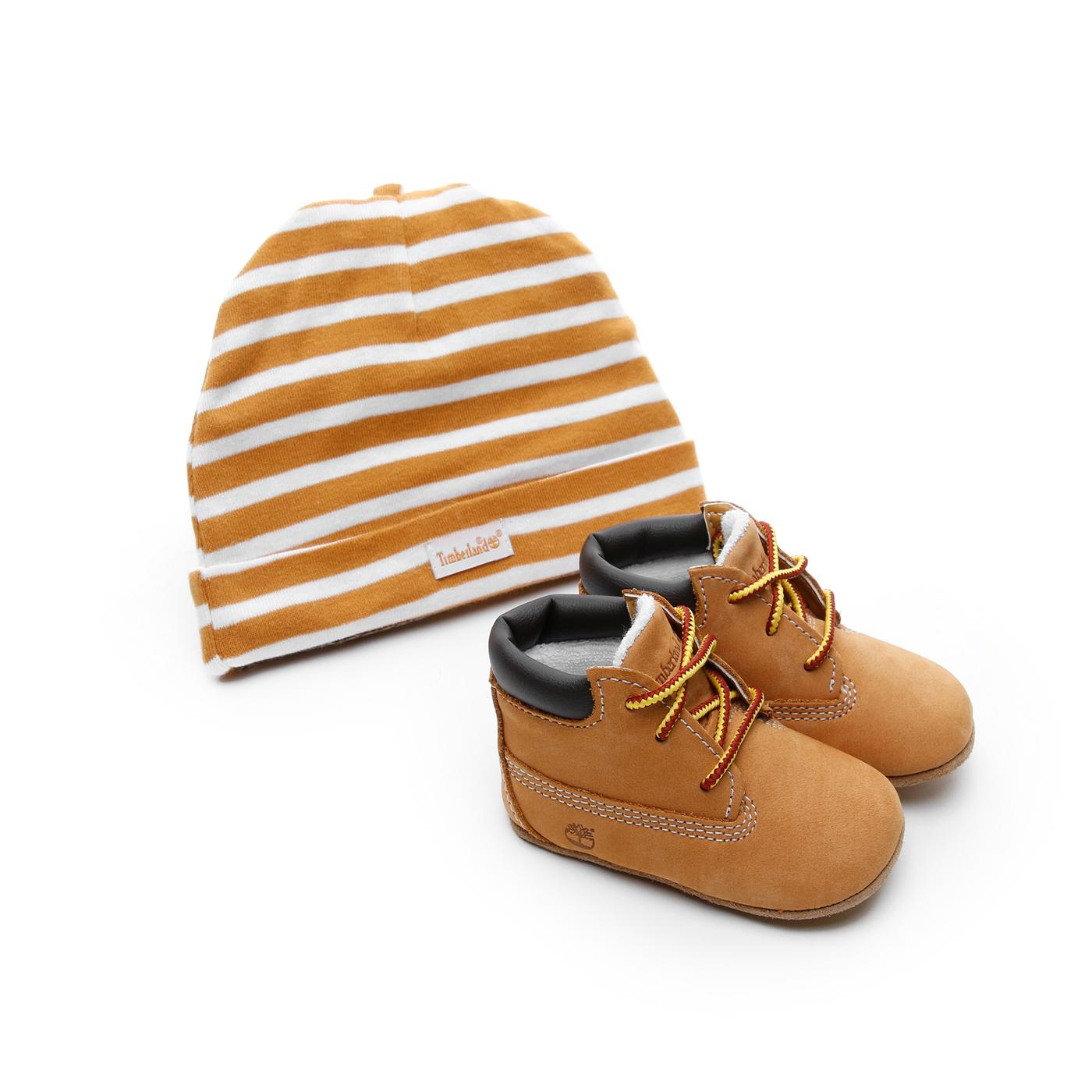 Timberland Cribie Şapkalı Sarı Bebek Bot