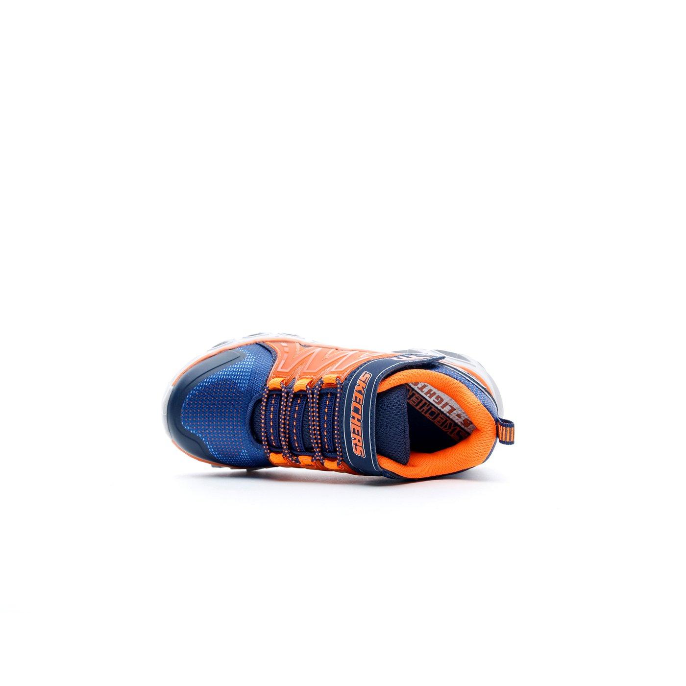Skechers Hypno-Flash 2.0 Işıklı Çocuk Turuncu - Lacivert Spor Ayakkabı