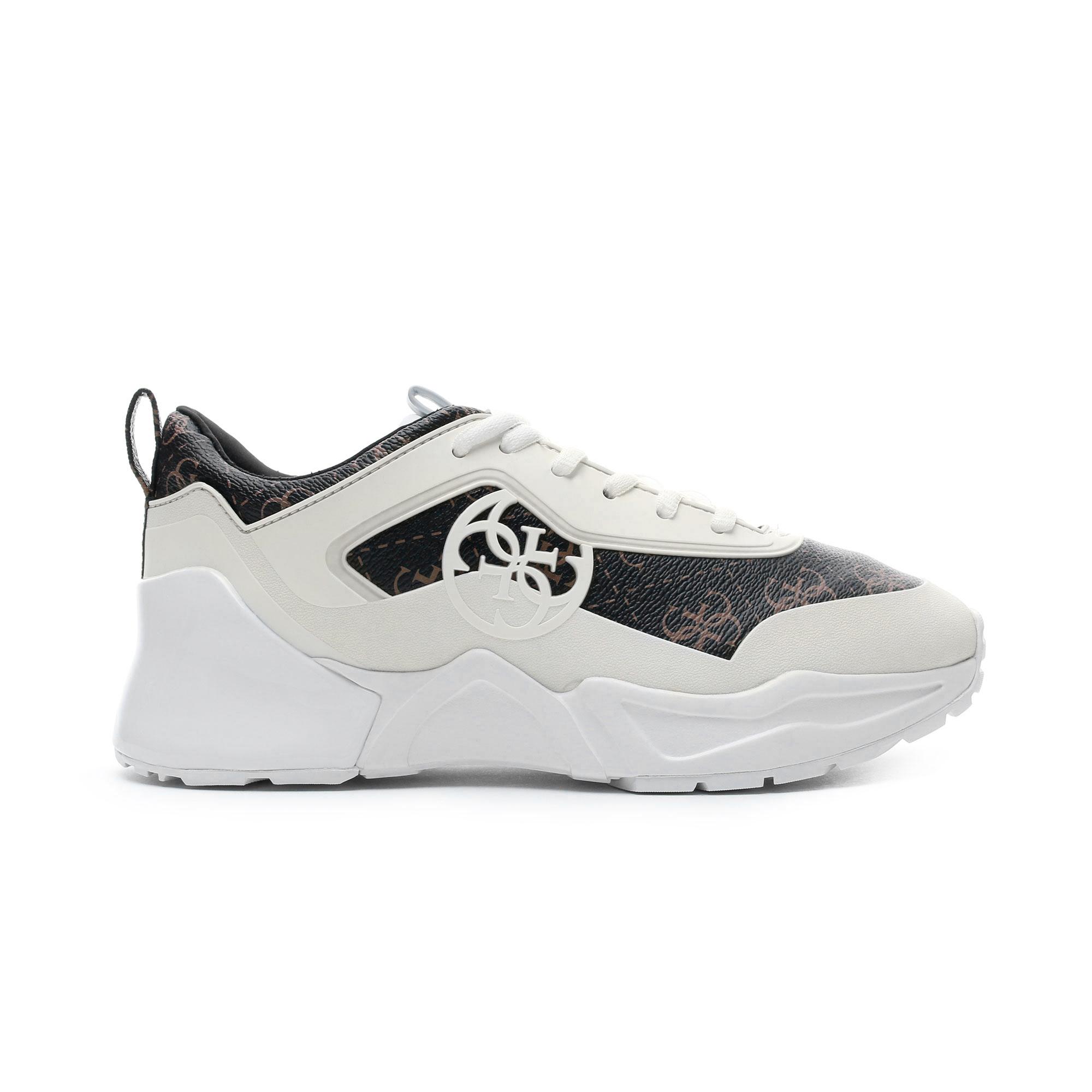 Guess Terain7 Beyaz - Kahverengi Kadın Spor Ayakkabı