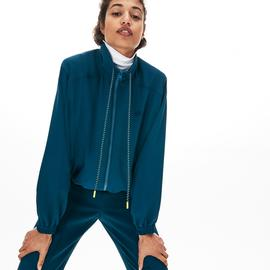 Lacoste Kadın Kapüşonlu Mavi Sweatshirt
