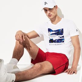Lacoste Novak Djokovic Erkek Beyaz T-Shirt