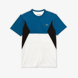 Lacoste Erkek Renk Bloklu Beyaz - Lacivert T-Shirt